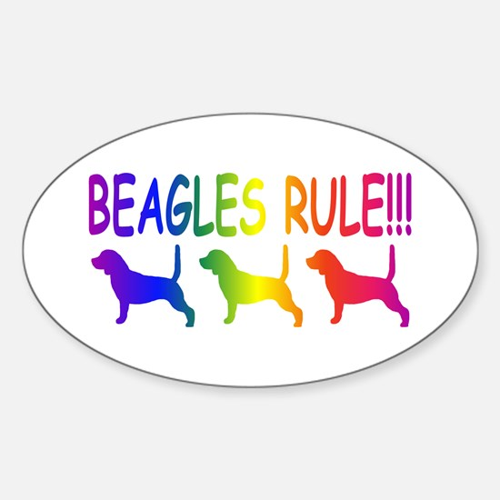 Beagles Sticker (Oval)