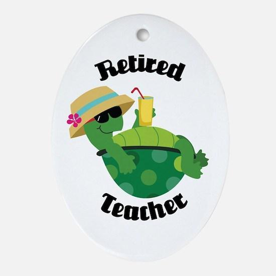 Retired Teacher Gift Ornament (Oval)