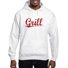 Grill, Vintage Red Hoodie
