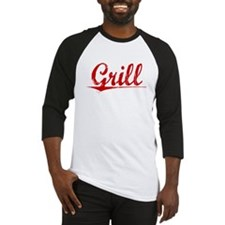Grill, Vintage Red Baseball Jersey