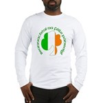 Gaelic Tricolor Shamrock Long Sleeve T-Shirt