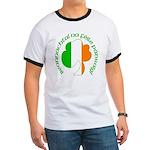 Gaelic Tricolor Shamrock Ringer T