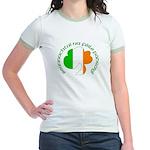 Gaelic Tricolor Shamrock Jr. Ringer T-Shirt