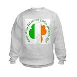 Gaelic Tricolor Shamrock Kids Sweatshirt