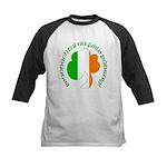 Gaelic Tricolor Shamrock Kids Baseball Jersey