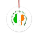 Gaelic Tricolor Shamrock Ornament (Round)