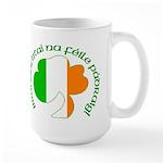 Gaelic Tricolor Shamrock Large Mug