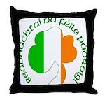 Gaelic Tricolor Shamrock Throw Pillow