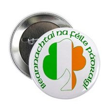 Gaelic Tricolor Shamrock Buttons (10 pack)