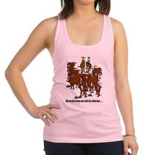 Cutting Horses and Cows Racerback Tank Top