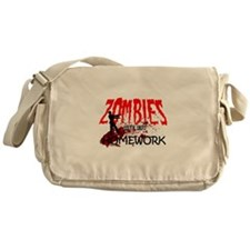 Zombies Ate My Homework Messenger Bag