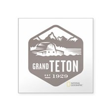 "Grand Teton Square Sticker 3"" x 3"""