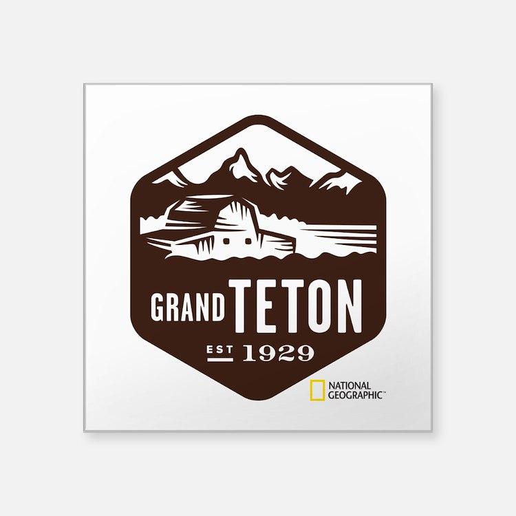 "Grand Teton Square Sticker 3"" x 3"""