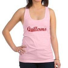 Guillermo, Vintage Red Racerback Tank Top