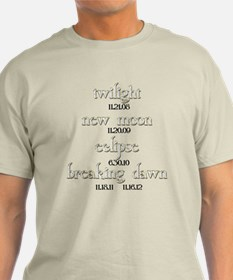 Twilight Saga Movie Dates T-Shirt
