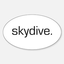 Skydive Oval Decal