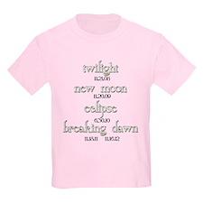 Twilight Saga Movie Dates T-Shirt
