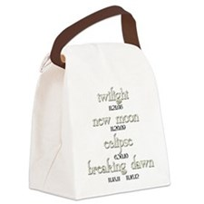 Twilight Saga Movie Dates Canvas Lunch Bag