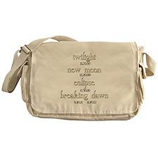Twilight Saga Movie Dates Messenger Bag