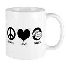Peace Love Books Mug