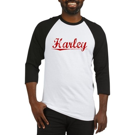 Harley, Vintage Red Baseball Jersey