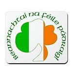 Gaelic Tricolor Shamrock Mousepad