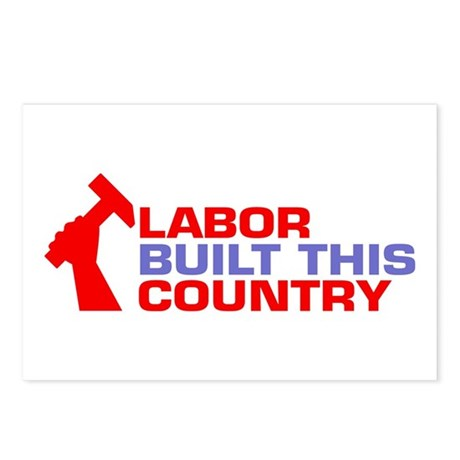 labor built union Postcards (Package of 8)