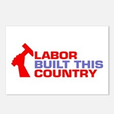 labor built union Postcards (Package of 8)