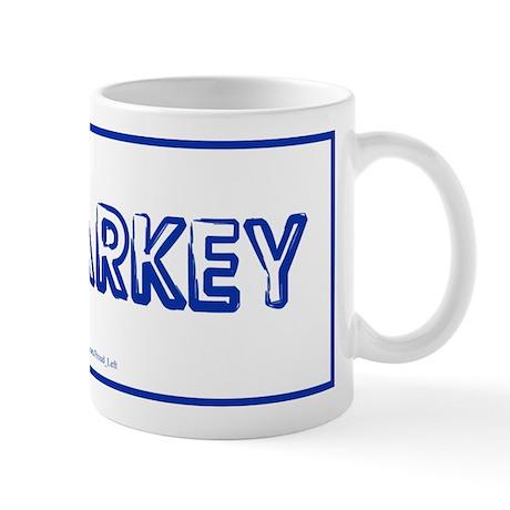 Malarkey blue on white Mug