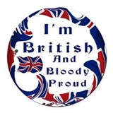 British Round Car Magnets