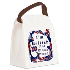 Im British And Bloody Proud Canvas Lunch Bag