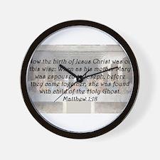 Matthew 1:18 Wall Clock