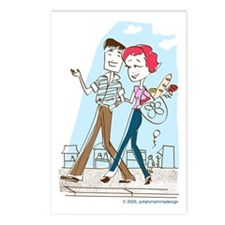 "Postcard ""Shopping in Paris"" (Set of 8)"