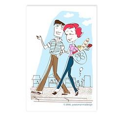"""Postcard """"Shopping in Paris"""" (Set of 8)"""