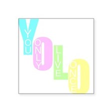 "Yolo Square Sticker 3"" x 3"""