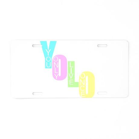 Yolo Aluminum License Plate