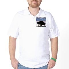 Bison Yellowstone National Pa Golf Shirt