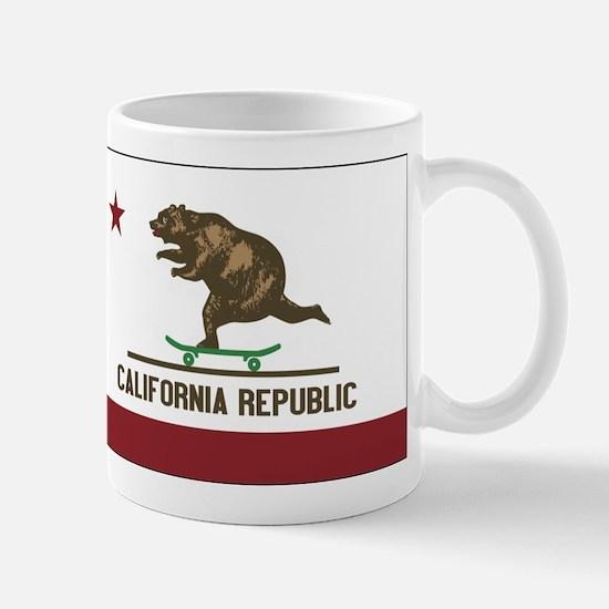 California Skateboarding Bear Flag Mug