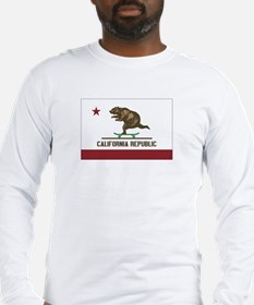 California Skateboarding Bear Flag Long Sleeve T-S