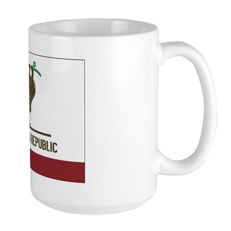 California Skateboarding Bear Flag Large Mug