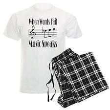 Music Speaks pajamas
