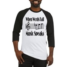 Music Speaks Baseball Jersey