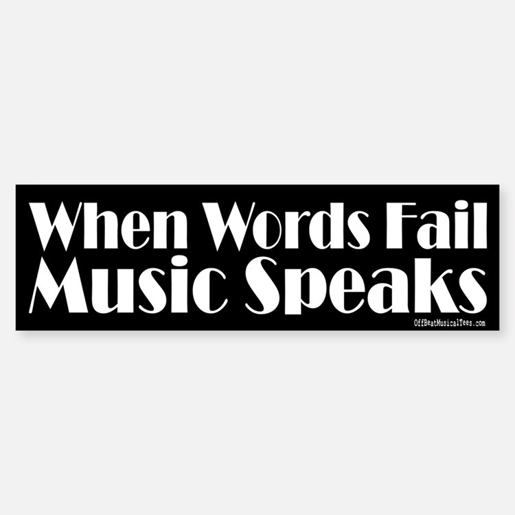 Music Speaks Car Car Sticker