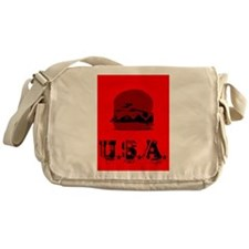USA cheeseburger America Messenger Bag