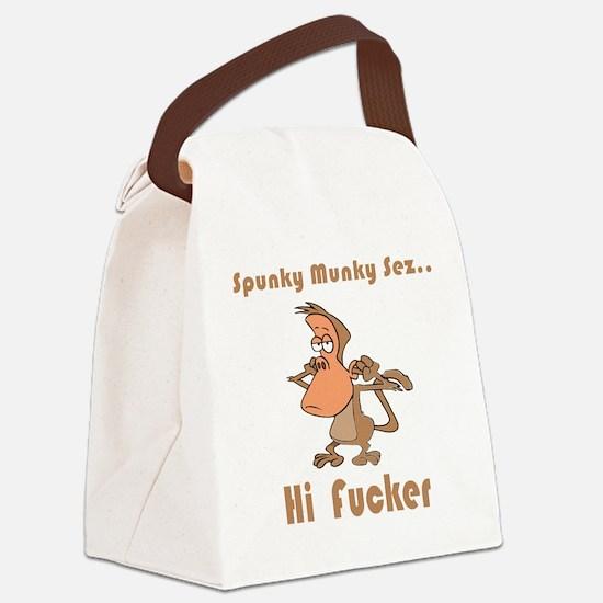 hi-fucker.png Canvas Lunch Bag