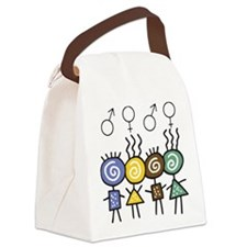 foursome.png Canvas Lunch Bag