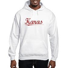 Karas, Vintage Red Hoodie Sweatshirt