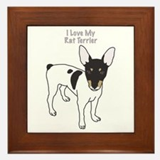 I Love My Rat Terrier Framed Tile