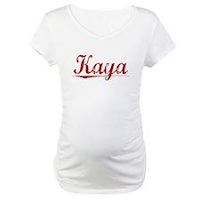 Kaya, Vintage Red Shirt