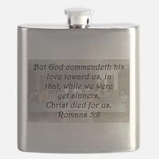 Romans 5:8 Flask